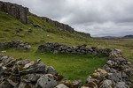Old sheep pen with Basalt Cliffs in the background