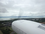 On the wing on our Chartair Cessna 310